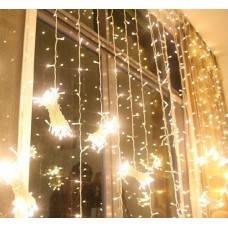 Гирлянда штора(занавеска) 320 LED-5мм, 3м/2м тепло-белая