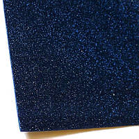Глиттерный фоамиран А4 2мм.Темно-синий. 20*30 см