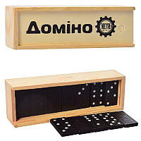 Домино детское M 0027, в деревянной кор-ке, 14,5-5-3см