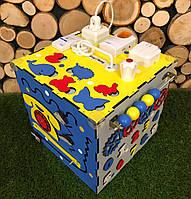 БИЗИКУБ размер 30*30 бізіборд бізікуб Развивающая доска Яркие цвета, деревяные бизиборды Бизиборд детский
