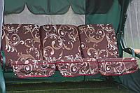Садовые дачные качели 3-местные БАРНА с откидной спинкой и антимоскитной сеткой