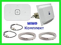 MIMO КОМПЛЕКТ LTE 4G 3G модем Huawei E5573Bs-320 с панельной антенной Wi-Fi роутер R216