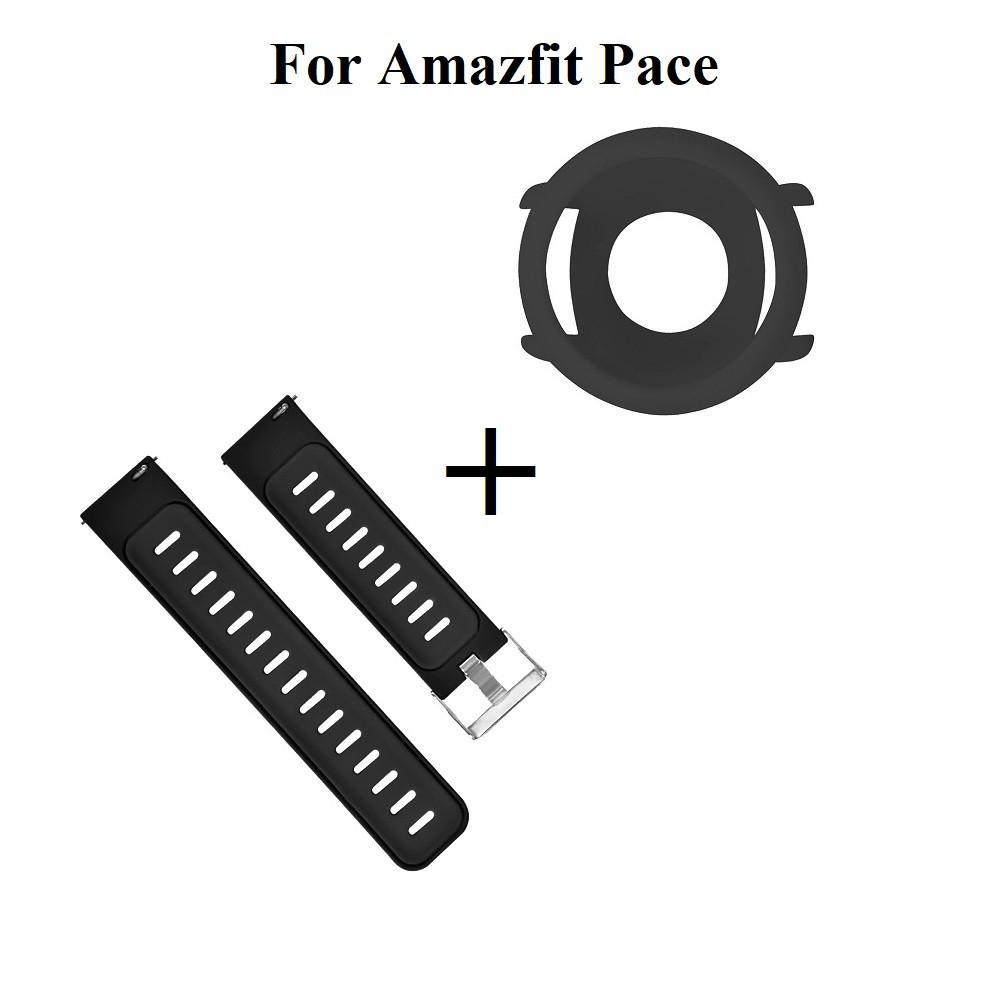 Amazfit Pace Комплект (чехол и ремешок) для смарт часов, Black