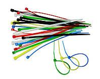 Набор цветных стяжных ремешков 2,5х150мм (30шт) Technics 23-203 хомуты пластиковые, стяжки |Набор кольорових