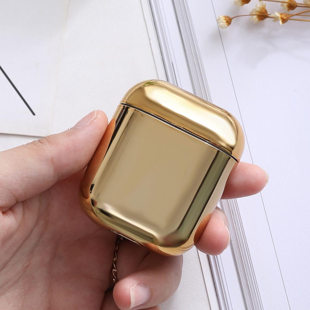 Чехол - Airpods Apple. Золотой . Хром