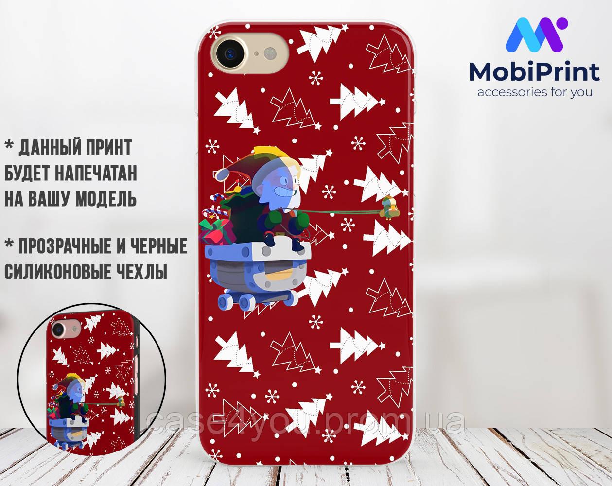 Силиконовый чехол для Xiaomi Mi 8 Brawl Stars (Бравл Старс) (31055-3334)