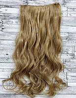 Трессы волнистые блонд темный волосы на клипсах 120г №24/27