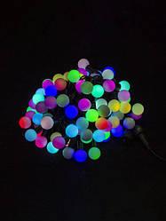 Гирлянда шарики 100 LED 11мм 10 метров разноцветная