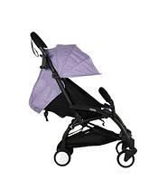 Коляска Yoya 175a+ фиолетовый лен рама черная