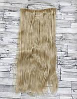 Трессы ровные блонд волосы на клипсах 120г №24/613