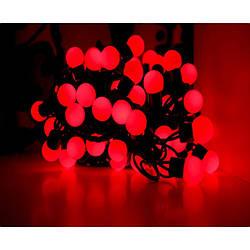 Гирлянда шарики 50 LED 16мм 6 метров красные