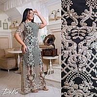 Вечернее платье в пол с пайеткой, больших размеров 50-56