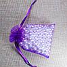 Подарочный мешочек из органзы 7 см х 9 см темно фиолетовый