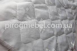 Стеганая матрасная ткань жаккард белая