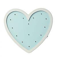 Деревянная игрушка Ночник Сердце голубое - замечательный подарок для детей от 3 лет