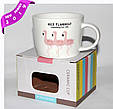 Чашка подарочная FLAMINGO  фарфор 200 мл , купить оптом со склада Одесса 7км, фото 4