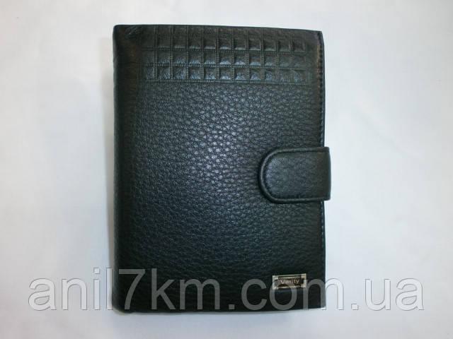 Мужской кожаный кошелёк фирмы VERITI для денег и документов