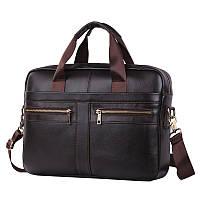 Качественная сумка James G11 коричневая