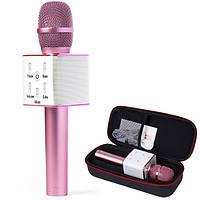 Караоке микрофон MicGeek Q9 PRO Розовый (Гарантия/Подарок/Чехол), фото 1