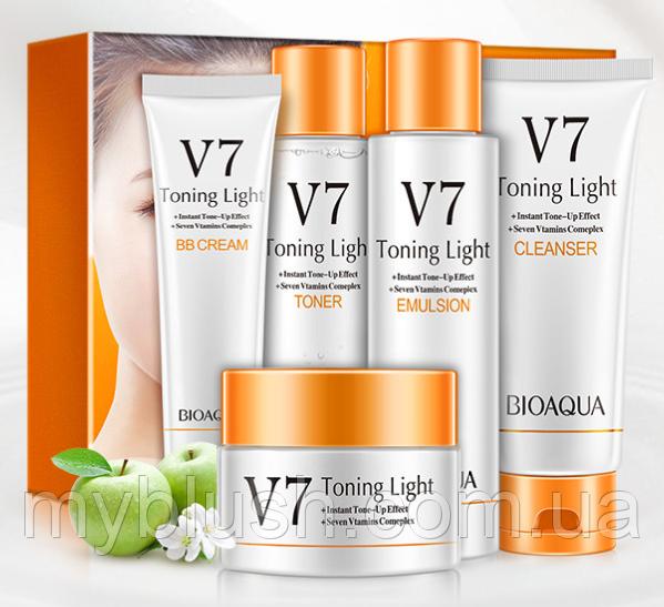 Подарочный набор BIOAQUA V7 Deep из пяти средств с витаминным комплексом