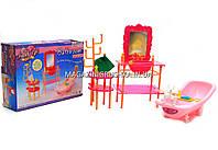 Детская игрушечная мебель Глория Gloria для кукол Барби Ванная 2913. Обустройте кукольный домик