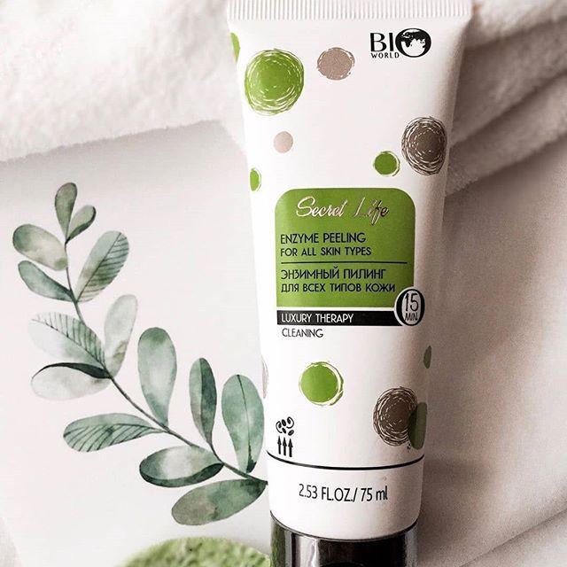 Ензимний пілінг для ніжного очищення всіх типів шкіри Bio Secret World Luxury Life Therapy Cleaning 75 мл