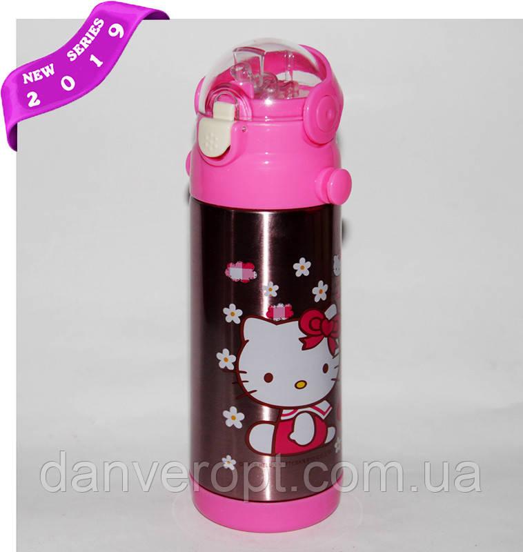 Термос детский HELLO KITTY школьный с трубочкой для девочек 350 ml, купить оптом со склада Одесса 7км