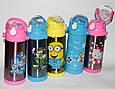 Термос детский  BEN 10 школьный с трубочкой для мальчиков 350 ml, купить оптом со склада Одесса 7км, фото 4