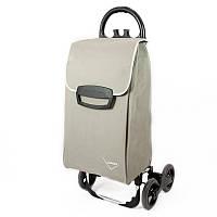Хозяйственная сумка-тележка, кравчучка, сумка для покупок Aurora Avanti 4 Basic 50 Black/Grey Flower