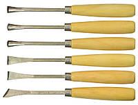 Набір фігурних стамесок для різьби по дереву (6шт.) Technics 43-340 | набор фигурных резьбы