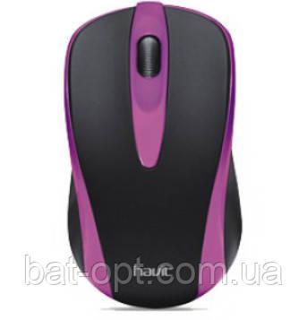 Мышь проводная Havit HV-MS675 USB фиолетовый