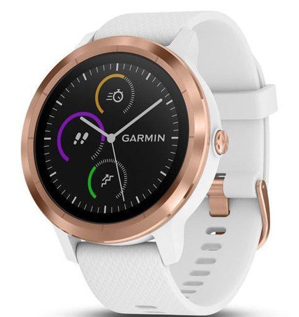 Фитнес часы Garmin Vivoactive 3, E.EU, White/Rose Gold Silicone