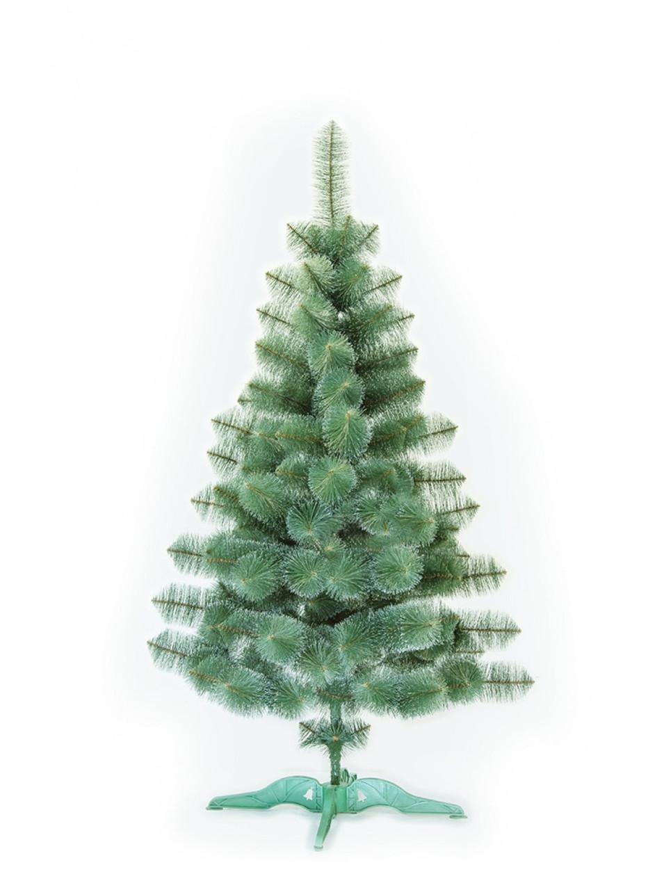 Сосна искусственная зеленая с белыми кончиками 1,80 м