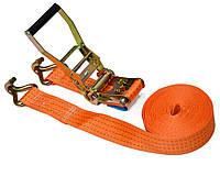 Стяжний багажний ремінь 4т/50 ммх 4м з тріскачкою Berg 52-421   стяжка багажная ремень стяжной