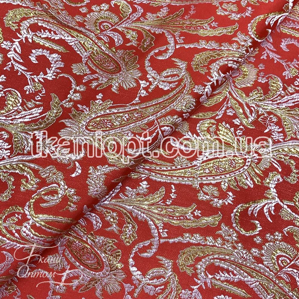 Ткань Парча (золото на красном)