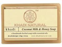 Мило Кхаді з кокосовим молоком та медом, Khadi Herbal Coconut Milk & Honey Soap, 125г