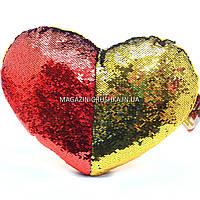 Подушка детская сувенирная Копиця с пайетками, 33х43х10 см, сердце, для девочки (00228-30)