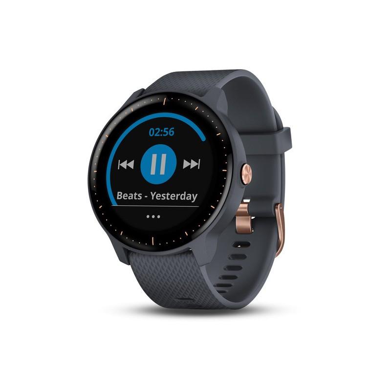 Фитнес часы Garmin Vivoactive 3 Music, EEU, GPS, Wi-Fi, Granite Blue/Rose Gold