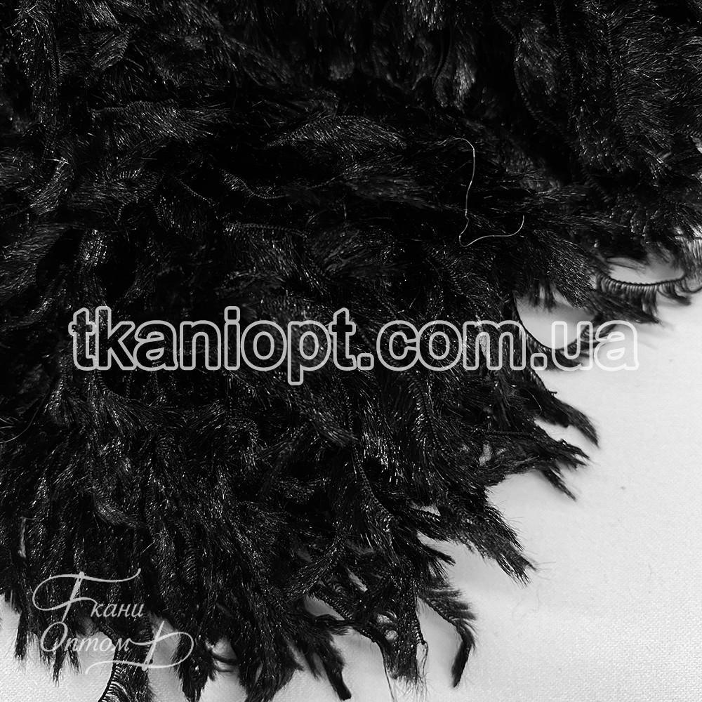 Ткань Имитация страусиные перья (черный)