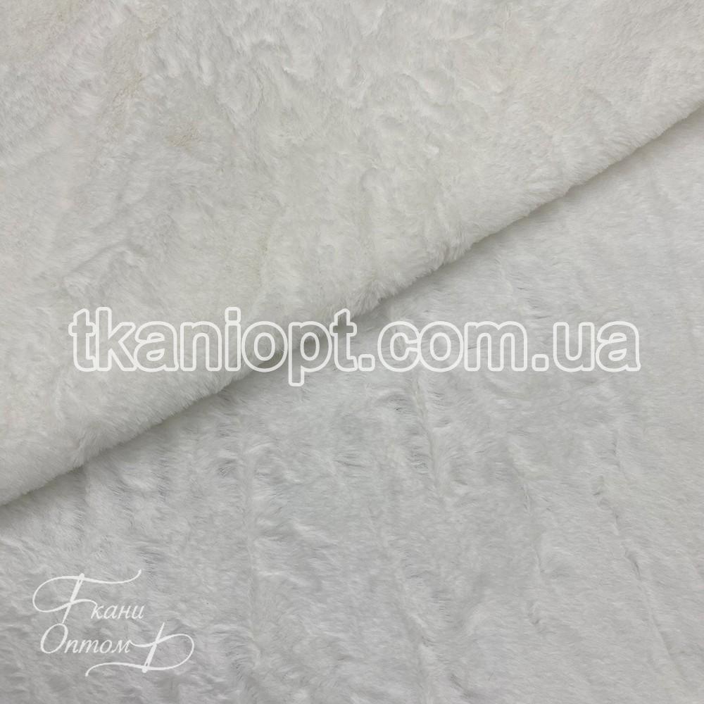 Ткань Мех искусственный кролик тонкий (молоко)