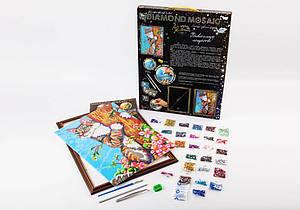 Набор для творчества Danko Toys Алмазная живопись Diamond mosaic Кот Разноцветный (AJYTQUDL)