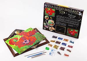 Набор для творчества Danko Toys Diamond Art Алмазная живопись Маки Разноцветный (HGFUYDI)