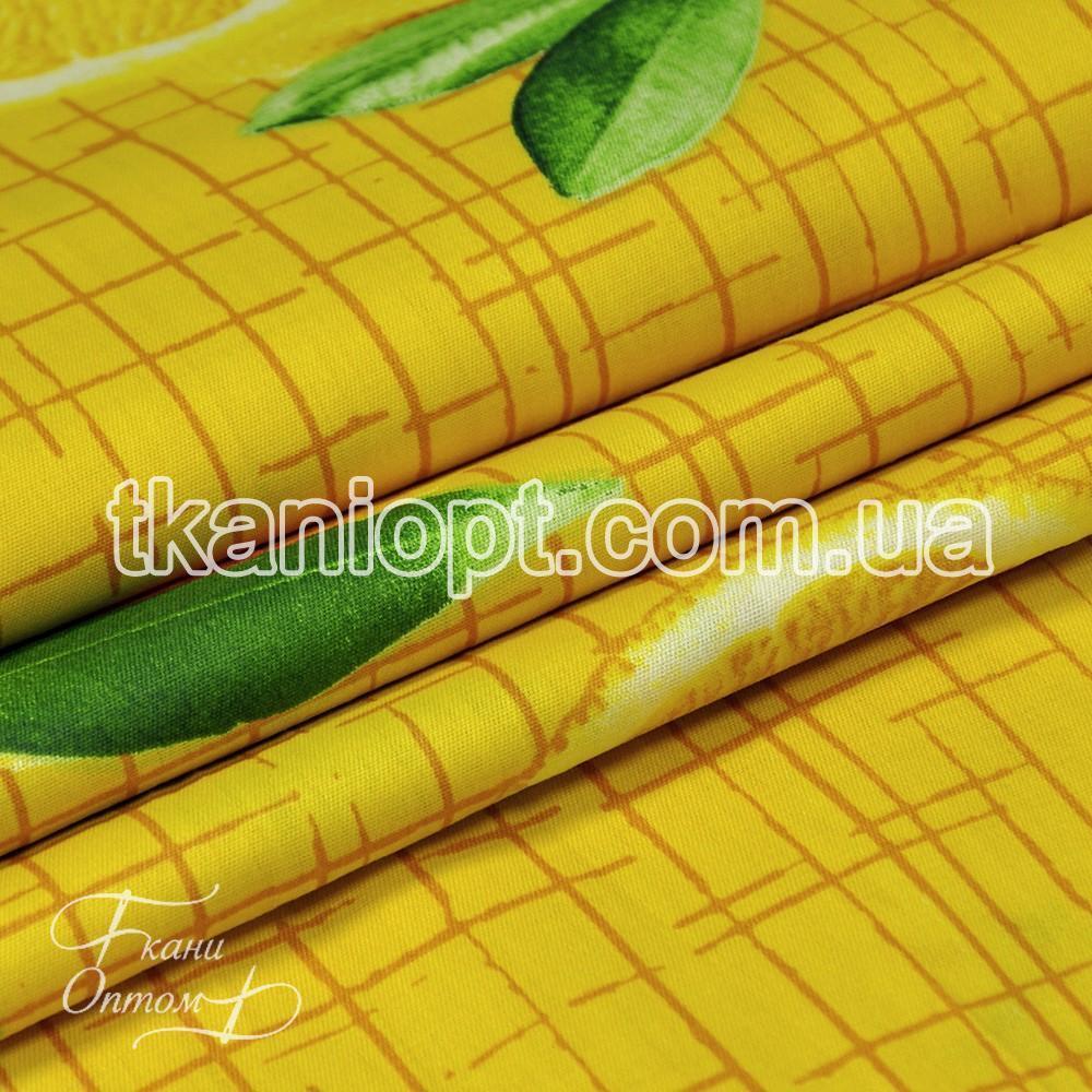 Ткань Сатин постельный Апельсин (желтый)