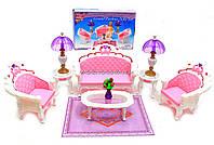 Детская игрушечная мебель Глория Gloria для кукол Барби Гостиная 2604. Обустройте кукольный домик