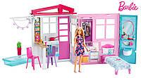 Переносной фантастический раскладной дом Барби с куклой .  Barbie Doll and Dollhouse