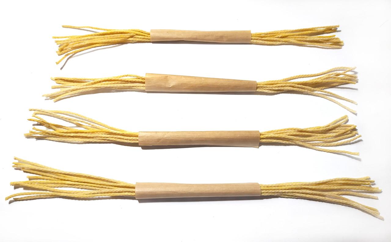 Гніт діаметром 2 мм вощений 3 метри (10 шт по 30 см) для свічок з вощини