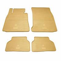 Комплект резиновых ковриков в салон автомобиля BMW 3 E90/E91/E92 бежевые (2027094)