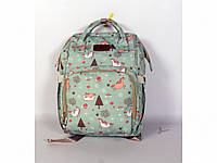 Рюкзак для мам единорог мятный