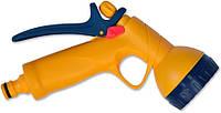 Пістолет-розпилювач 6-позиційний пластиковий з фіксатором потоку Verano 72-002 | пістолет, пистолет, распылитель, pulverizator, Розпилювач