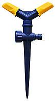 Розпилювач 2-променевий, що обертається, пластиковий, на цинковому стрижні Verano 72-050 | розпилювач, дощувач, зрошувач, поливалка, распылитель,